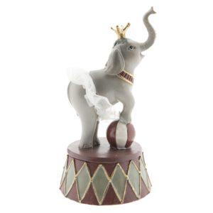 6PR2420 - Decoratie olifant - 9*9*17 cm