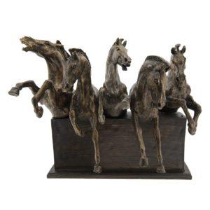 6PR2434 - Decoratie paarden - 42*26*34 cm