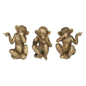 6PR2448 - Decoratie figuur apen - set van 3
