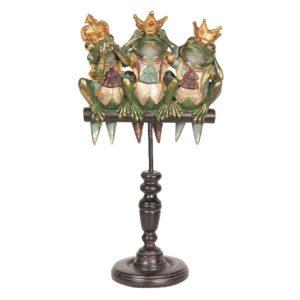 6PR2453 - Decoratie kikkers - 19*11*35 cm