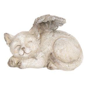 6PR2655 - Decoratie kat met vleugels - 15*10*10 cm