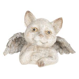 6PR2656 - Decoratie kat met vleugels - 21*11*14 cm