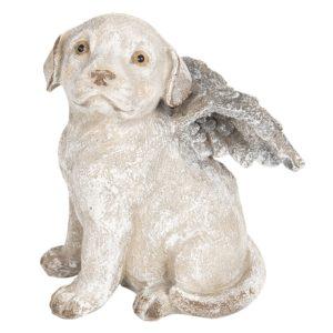 6PR2659 - Hond met vleugels - 16*13*20 cm