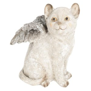 6PR2660 - Decoratie kat met vleugels - 16*14*21 cm