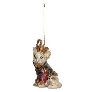 6PR2712 - Decoratie hanger hond - 8*6*12 cm