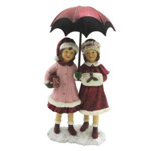6PR2785 Kinderen met paraplu - 11*6*16 cm
