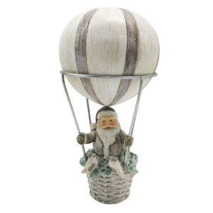 6PR2787 Kerstman in luchtballon - Ø 8*17 cm