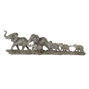 6PR2822 - Decoratie olifanten familie - 53*10*15 cm