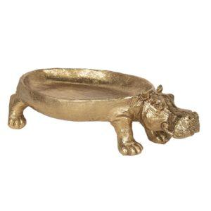 6PR2848 - Decoratie schaal nijlpaard - 30*16*8 cm