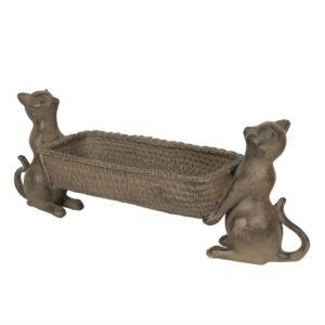 6PR2850 - Decoratie schaal katten - 48*14*17 cm
