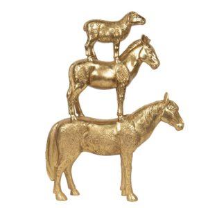 6PR2854 - Decoratie dieren paard - 30*8*40 cm