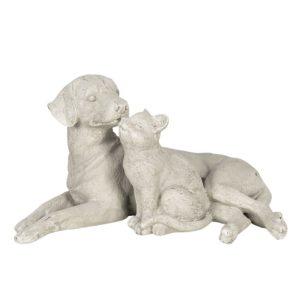6PR2900 - Decoratie hond en kat - 46*27*25 cm