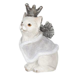 6PR2969 - Decoratie kat met vleugels - 17*15*28 cm