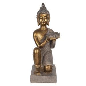 6PR2978 - Waxinelichthouder Boeddha - 19*17*44 cm