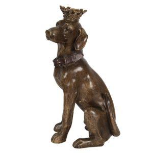6PR3008 - Decoratie hond zittend - 21*18*40 cm