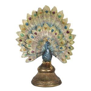 6PR3013 - Decoratie pauw - 22*12*30 cm