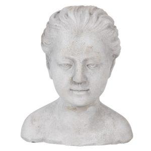6TE0288 - Decoratie hoofd vrouw - 17*16*20 cm