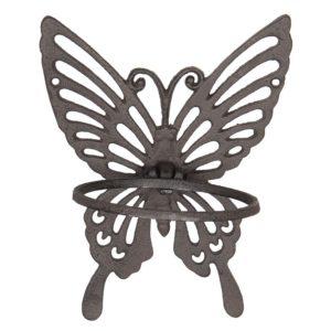 6Y3008 - Bloempot houder vlinder - 18*15*23 cm