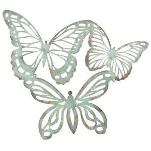 6Y3184 - Wanddecoratie vlinders - 53*45 cm