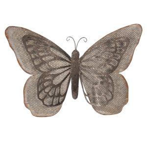6Y3475 - Wanddecoratie vlinder - 55*8*35 cm