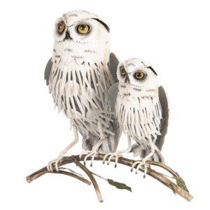 6Y3534 - Decoratie uilen - 36*20*34 cm