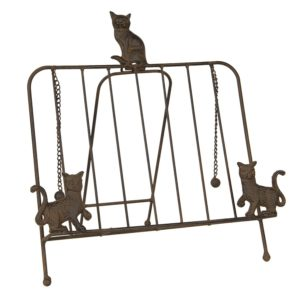 6Y3814 - Boekenstandaard katten - 38*25*38 cm