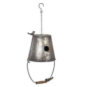 6Y3816 - Decoratie vogelhuis - 25*25*40/60 cm