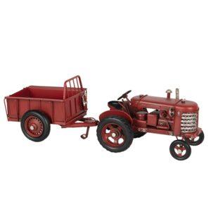6Y3823 - Model tractor met aanhangwagen - set 2