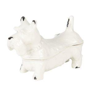 6Y3951 - Juwelendoosje hond - 7*3*5 cm