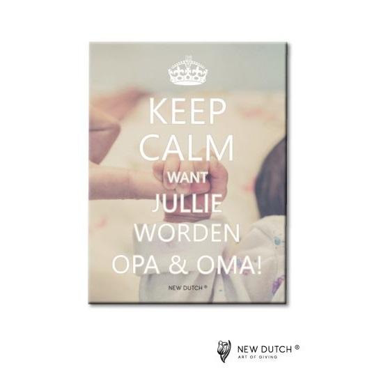 861 - Tegel Keep Calm - Want jullie...
