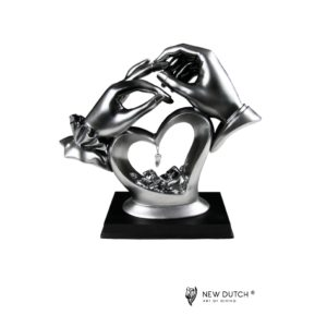 900713 - Figurine Hands with crystal heart - 21cm