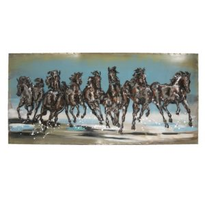 JJWA00016 - Wanddecoratie paarden - 140*70*5 cm