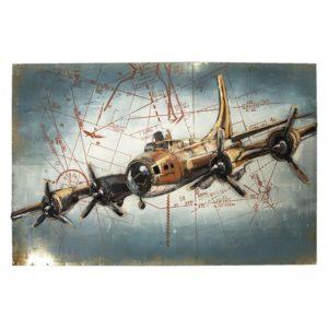 JJWA00019 - Wanddecoratie Vliegtuig - 120*5*80 cm