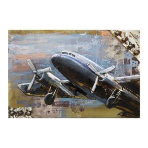 JJWA00026 - Wanddecoratie Vliegtuig - 120*80*7 cm