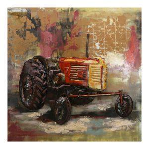 JJWA00031 - Wanddecoratie Tractor - 100*100*5.5 cm