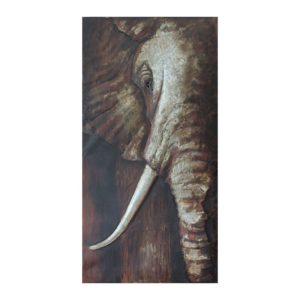 JJWA00054 - Wanddecoratie olifant - 75*150*7 cm