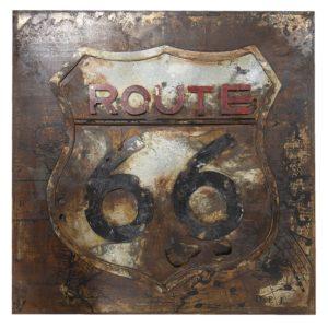 JJWA00056 - Wanddecoratie Route 66 - 80*80*6 cm