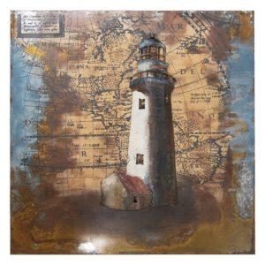 JJWA00061 - Wanddecoratie Vuurtoren - 80*80*5 cm