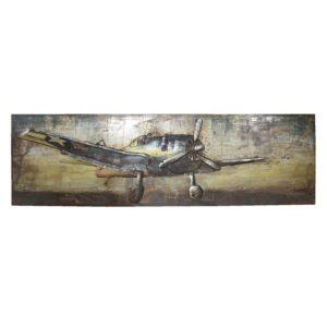 JJWA00064 - Wanddecoratie vliegtuig - 180*56*7.5 cm