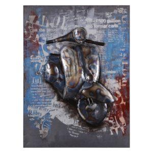 JJWA00077 - Wanddecoratie scooter - 60*80*3.5 cm