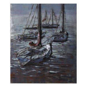 JJWA00084 - Wanddecoratie boten - 75*100*7 cm