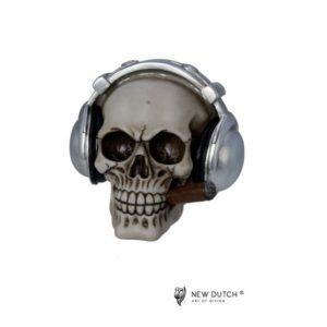 600522 - Skull Headphones - 14.5x14.5x13.5cm