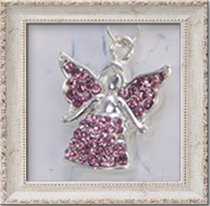 Birthstone Angel Ketting