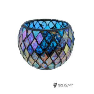 700509 - Mozaiek Glass Tealightholder