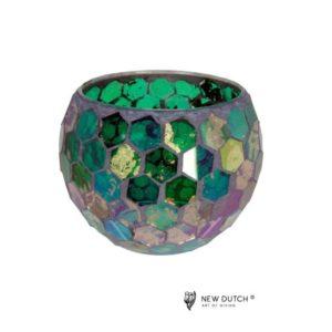 700507 - Mozaiek Glass Tealightholder