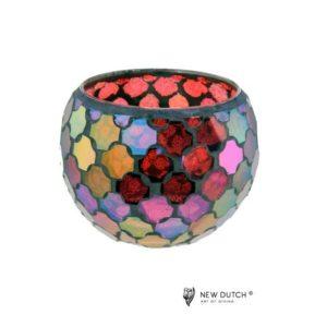 700505 - Mozaiek Glass Tealightholder