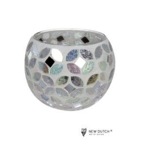 700511 - Mozaiek Glass Tealightholder