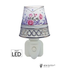 500165 - Night Light LED Lavendel Rose Garden