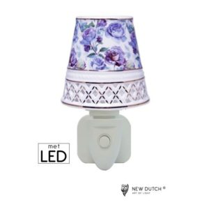 500166 - Night Light LED Purple Roses