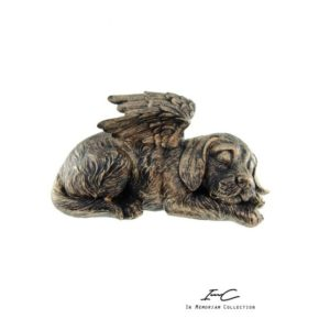 300741 - Angel Dog Urn Bronze - 450 cc